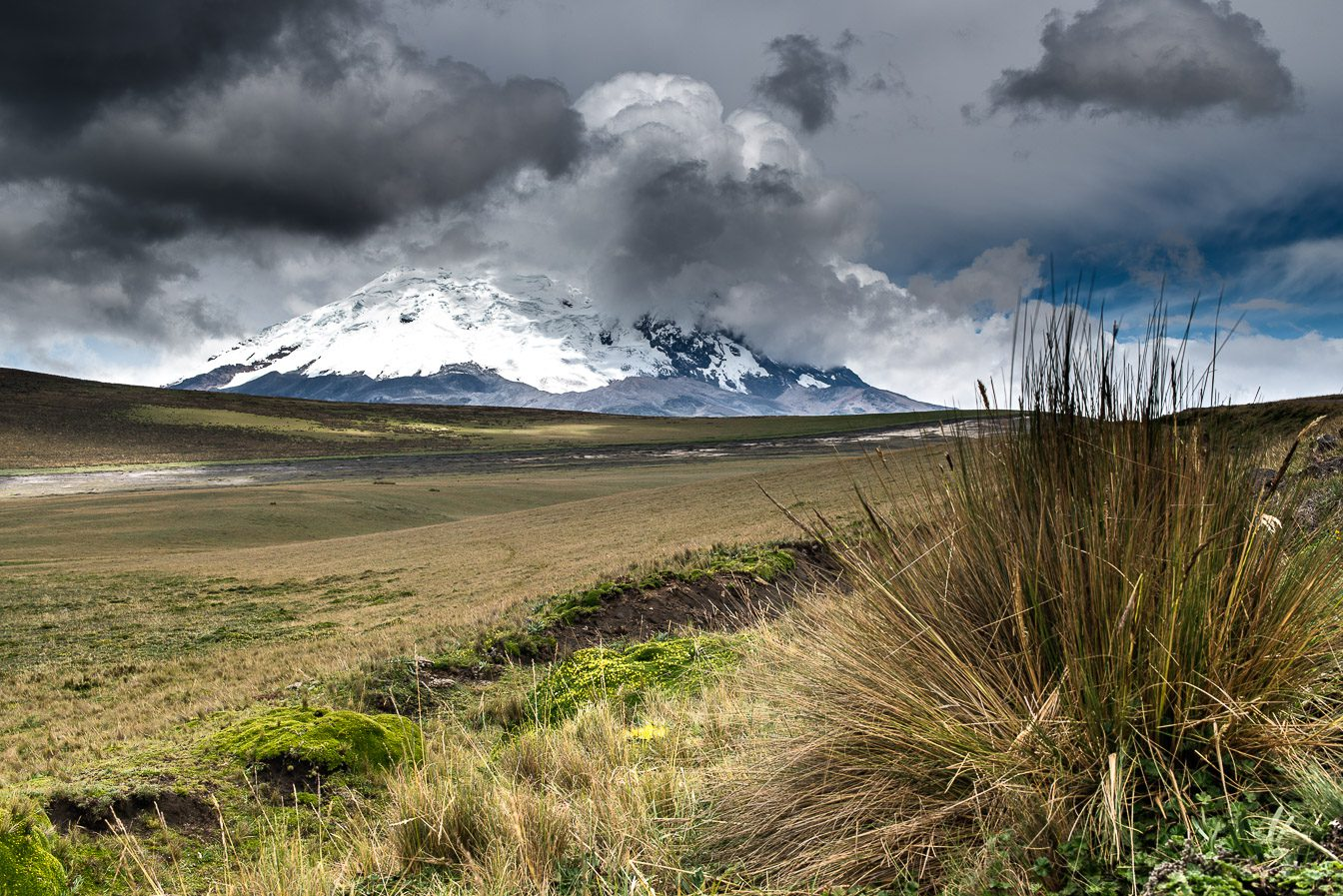 Antisana volcano 5758 m and paramo plateau