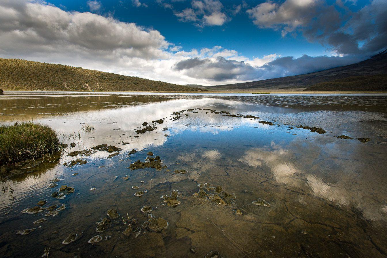 Limpiopungo lagoon Cotopaxi national park
