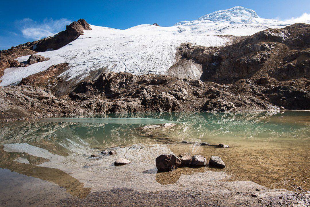 Mirrored Nevado Cayambe