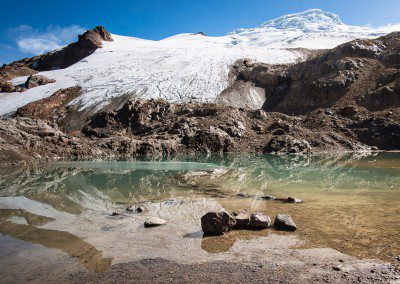 Mirrored Nevado Cayambe