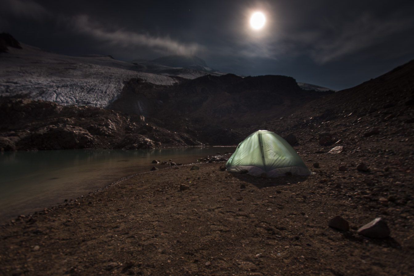 Cayambe peak night camp 4790 m