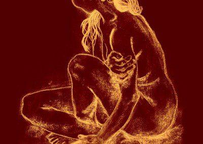 "Desnudo - Artist : Maria Saccomori ""Gitta"""