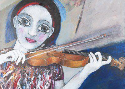 La violinista . Artist : Carlos Rosero