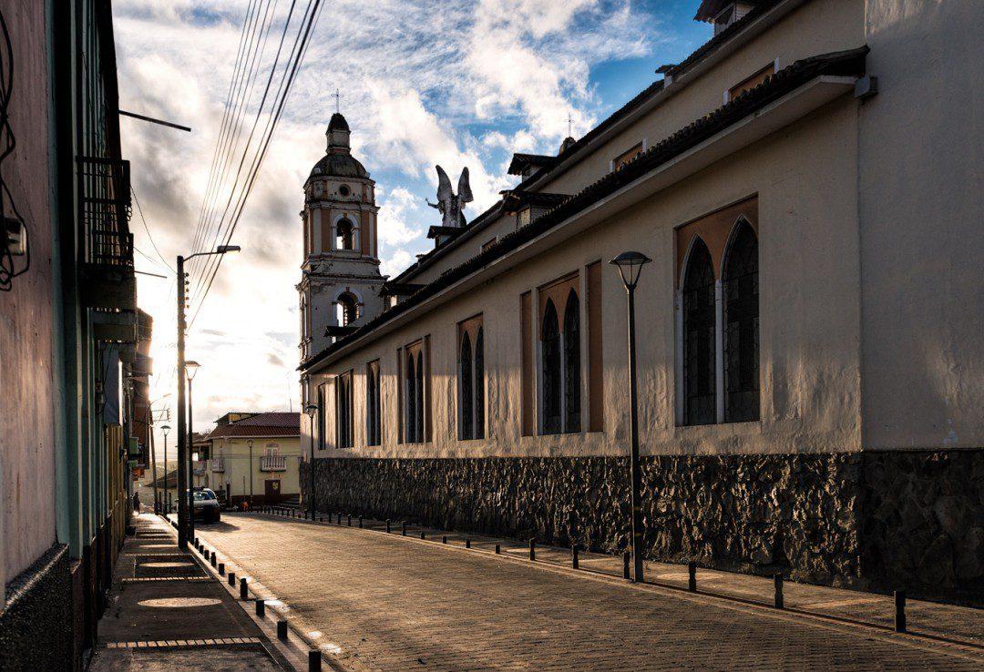 San Gabriel matriz church at dawn