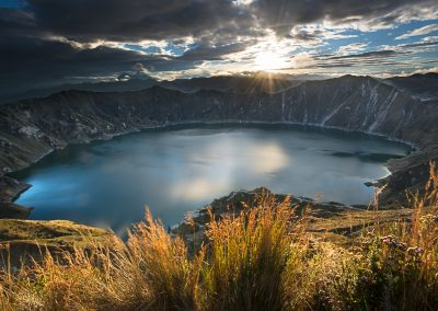 Quilotoa lagoon & crater 6:43 AM