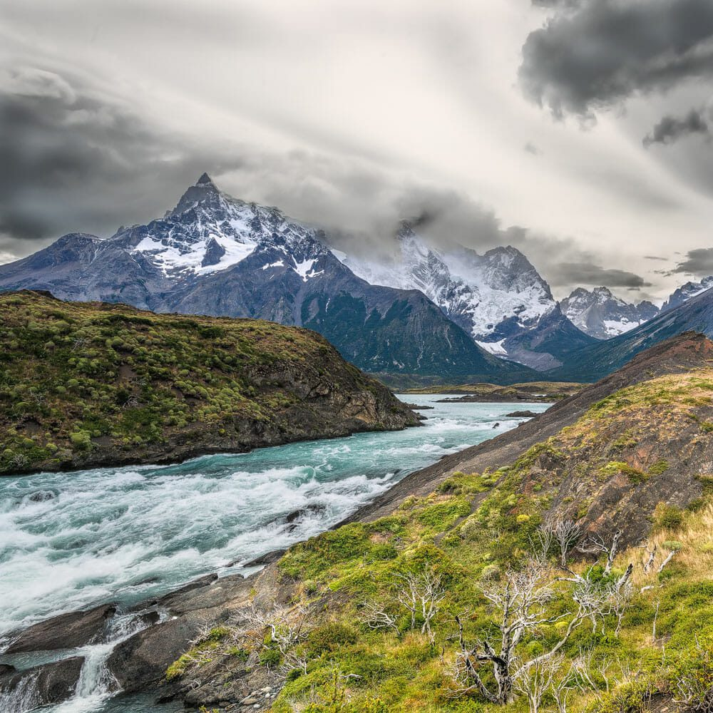Cerro Paine Grande view from the surrondings of the Salto Grande