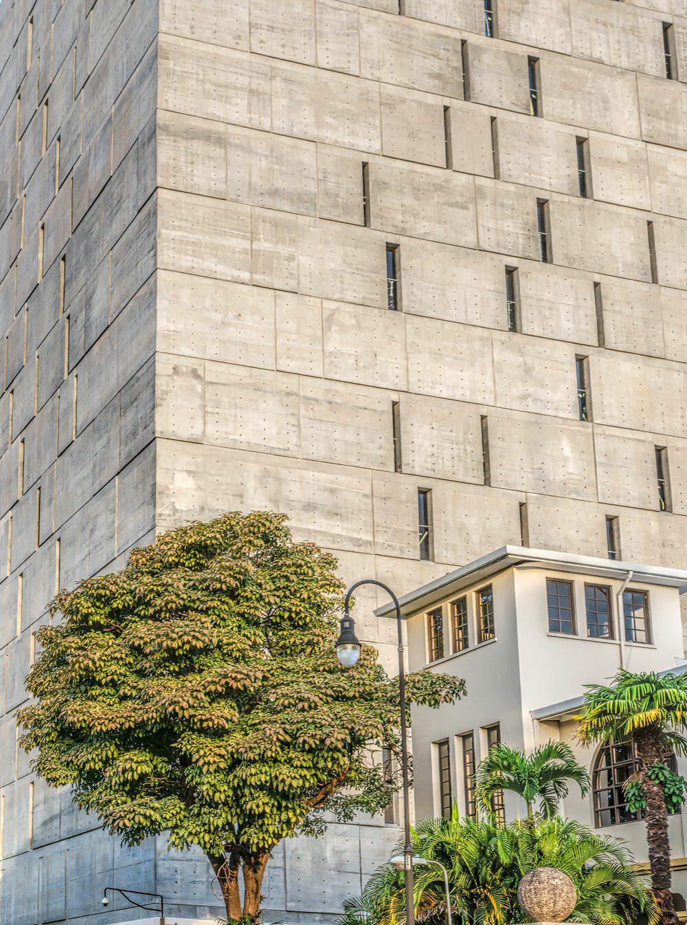 Facade of the Legislative Assembly Building in San José