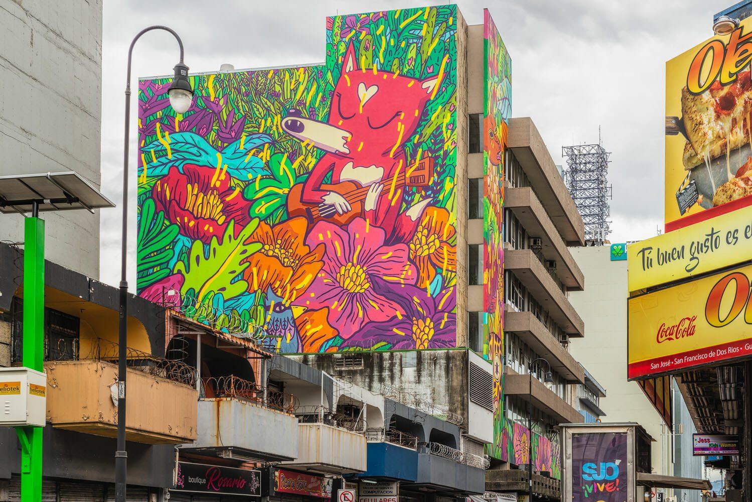 Mural Florecer Alde building downtown San José