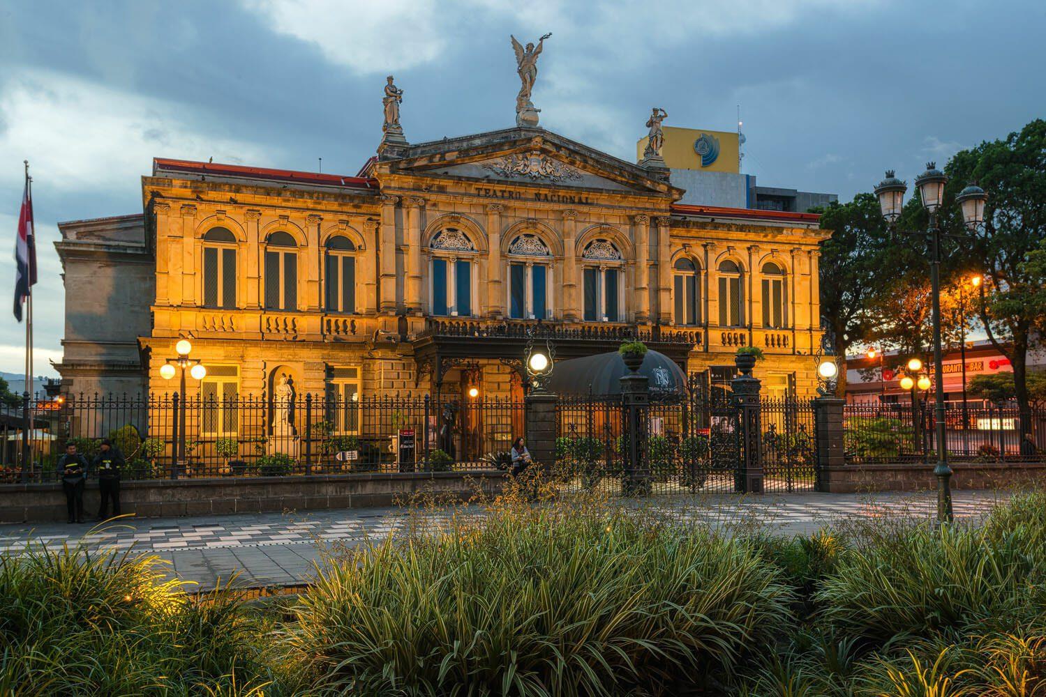 National Theater San Jose Costa Rica at dawn