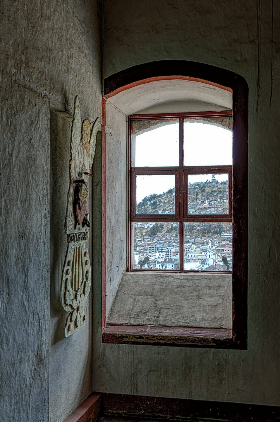 Window of the monastery of the agustian nuns with view
